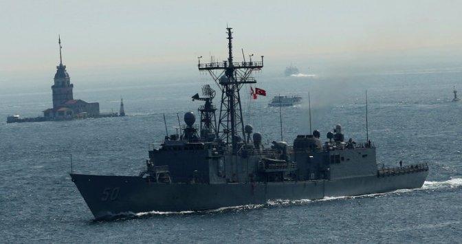 """Ракетный фрегат США """"Taylor"""" зашел в Черное море #война #крым #русскаявесна"""
