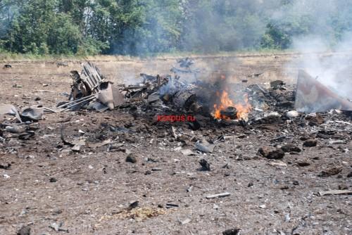 Видео и фото сбитого ополченцами Су-25 #СаурМогила #Украина #ДНР
