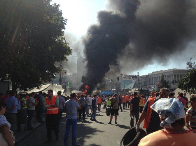 На Майдане в Киеве вспыхнули столкновения. Трансляция. Фото. Видео #Майдан #Украина #Евромайдан
