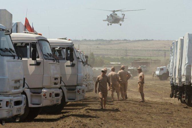 Гуманитарный караван повернул в Россию: украинские пограничники не вышли досматривать груз #Конвой #Новороссия #Украина