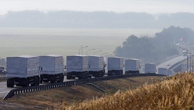 Гуманитарный конвой РФ выехал из Изварино в сторону Луганска. Прямая трансляция #Конвой #Новороссия #Украина