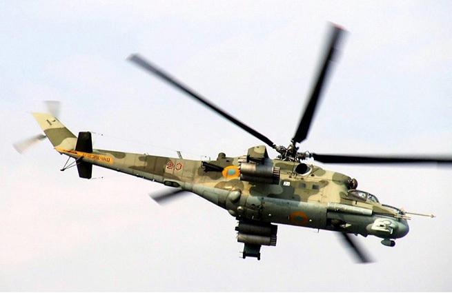 Ополченцы сбили два вертолета Ми-24 под Луганском #Георгиевка #Новороссия #Украина