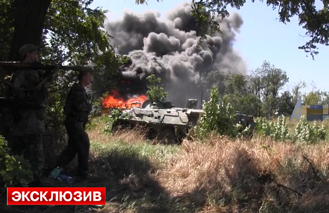 Уничтожена колонна карательного батальона Айдар. Видео. Фото 18+ #Украина #АТО #Новороссия #Луганск #Счастье #Айдар