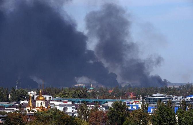 Обстрел Донецка артиллерией ВСУ 14 – 15 сентября 2014 г. Фото. Видео. Обновляется #Украина #Новороссия #ДНР #Донецк