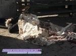 14 сентября 2014 г. Донецк, ул. Куйбышева, украинские снаряды разорвались прямо на остановке. Одна женщина погибла, одна тяжело ранена.