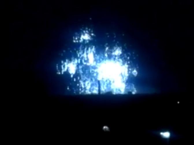 ВСУ ведут бомбардировку Донецка фосфорными боеприпасами. Видео. Фото #Украина #Новороссия #Донецк #АТО 09.09.2014